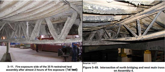 WTC-911-NIST-fire-tests-Underwriter-Laboratories-August-2004-little-3-inch-buckling-of-steel-trusses-floors