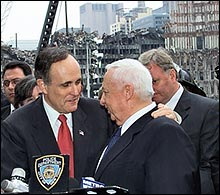 Giuliani with Sharon