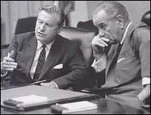 Nelson Rockefeller with LBJ.