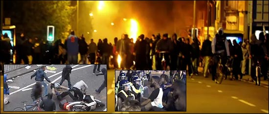 Blacks rioting in London. Crime numbers.