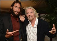 David de Rothschild Sir Richard Branson