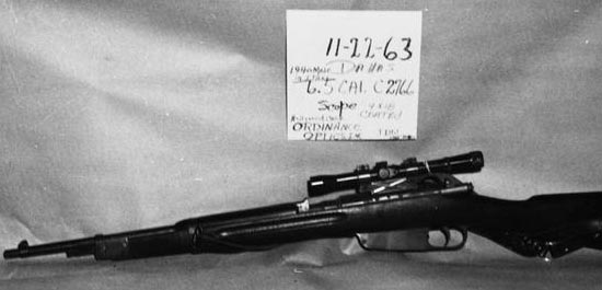 Mannlicher Carcano found at the Texas School Book Depository