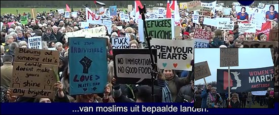 Dutch anti-Trump protest.