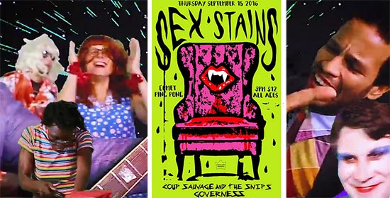 Sex Stains, Comet Ping Pong band.