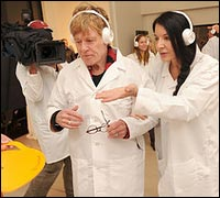 Marina Abramovich and Robert Redford.