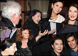 Marina Abramovich with Ted Forstmann, David Copperfield, Wendi Deng Murdoch and Diane von Furstenberg.