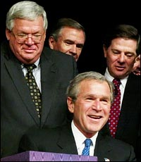 Denny Hastert with Bush.