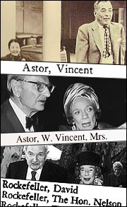 Alice Astor, Brooke Astor, Laurance Rockefeller, David Rockefeller.