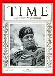 Mussolini, Time magazine